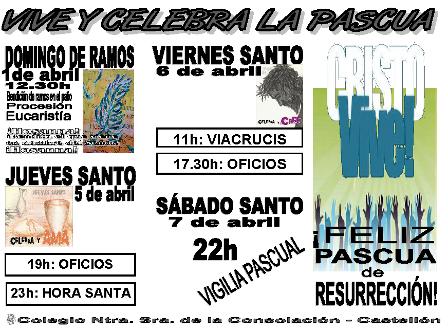Cartel Pascua 2012